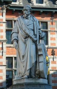 セルヴェの銅像