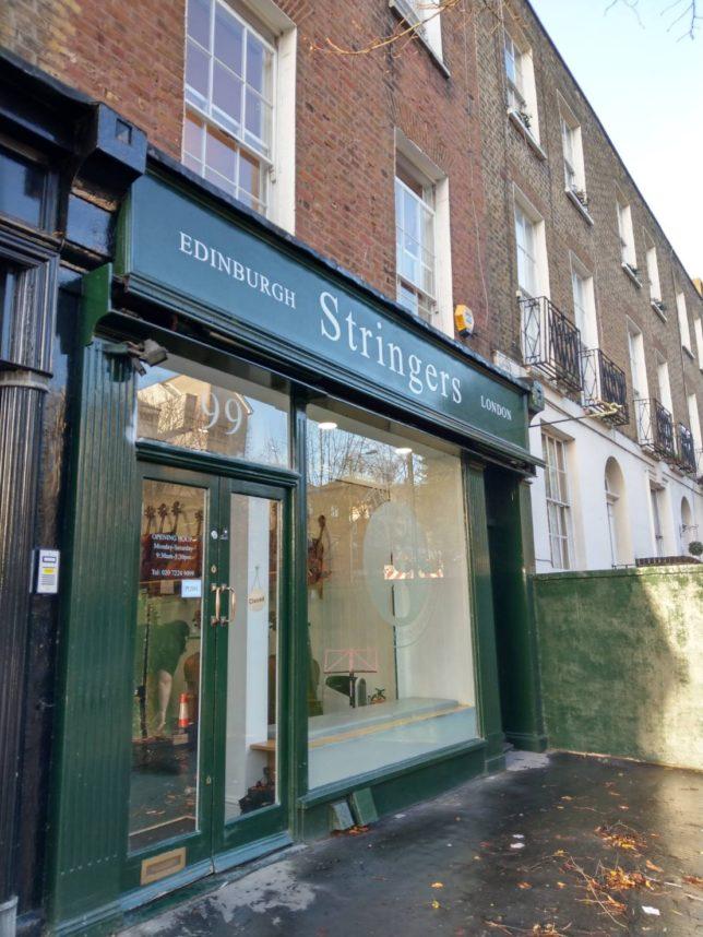 ロンドンの楽器屋さん。ストリンガーズ。