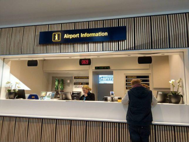 コペンハーゲン空港のインフォメーション
